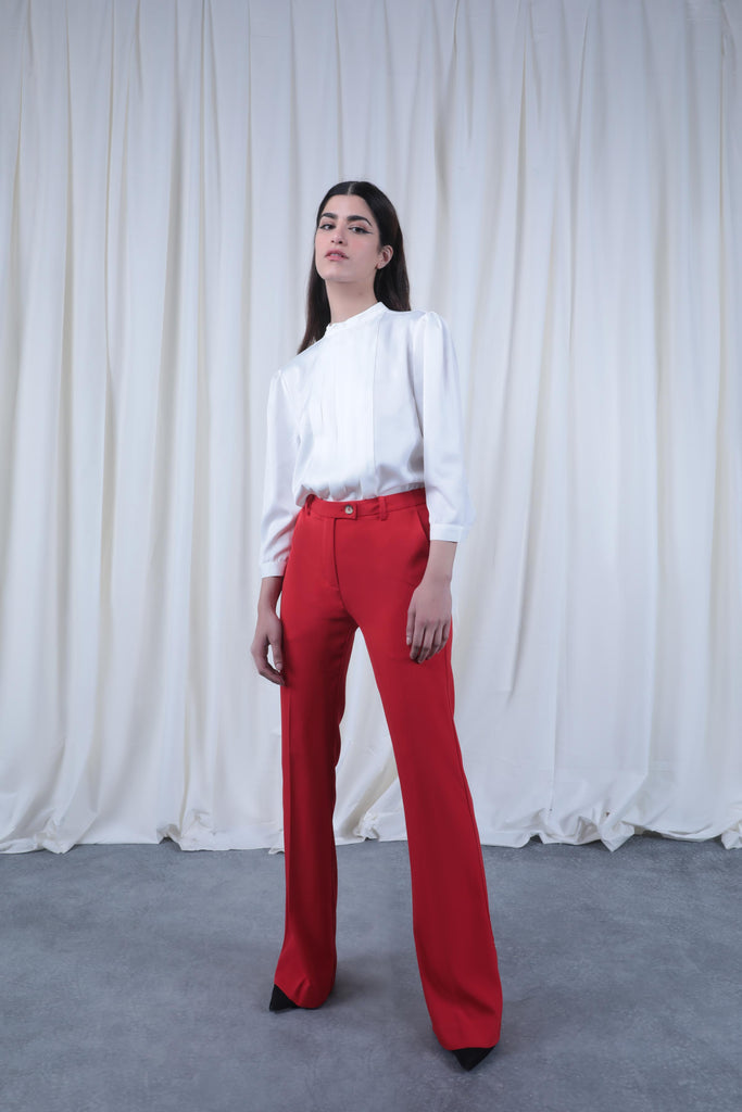 Red High-waisted Pants