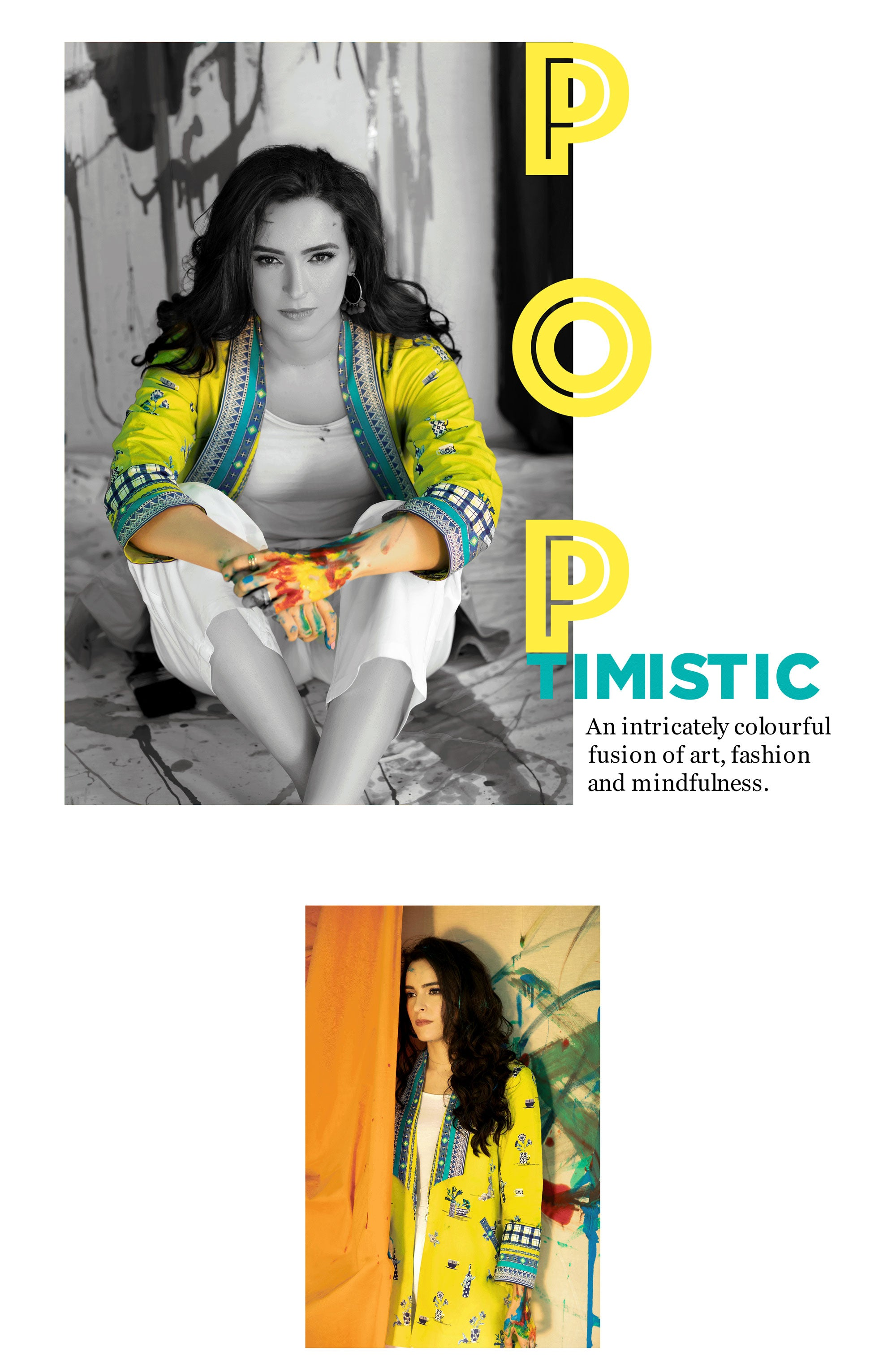 Poptimistic, An intricately colourful fusion of art, fashion and mindfulness.