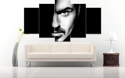 (50% OFF) GEORGE MICHAEL (A) - 5 Panel HD Wall Art Canvas Home Decor Display - ***FREE SHIPPING***