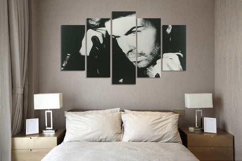 (50% OFF) GEORGE MICHAEL (B) - 5 Panel HD Wall Art Canvas Home Decor Display - ***FREE SHIPPING***
