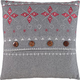 Image of Grey Fairisle Cushion