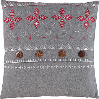Grey Fairisle Cushion