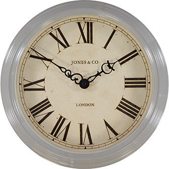 Grey Savoy Wall Clock