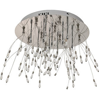 Silver Tone Dropped Ceiling Light