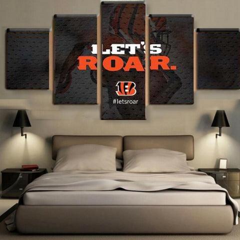 HD Limited Edition Bengals Canvas Let's Roar