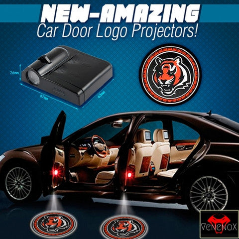 Bengals - 2 x Wireless LED Car Logo Laser Projector - Fitness Equitments