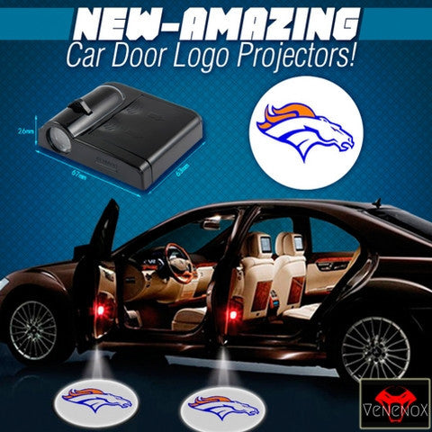 Broncos - 2 x Wireless LED Car Logo Laser Projector - Fitness Equitments