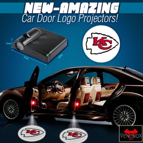 Chiefs - 2 x Wireless LED Car Logo Laser Projector (44% Off Plus FREE Shipping) - Fitness Equitments