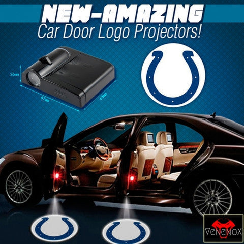 Colts - 2 x Wireless LED Car Logo Laser Projector (44% Off Plus FREE Shipping) - Fitness Equitments
