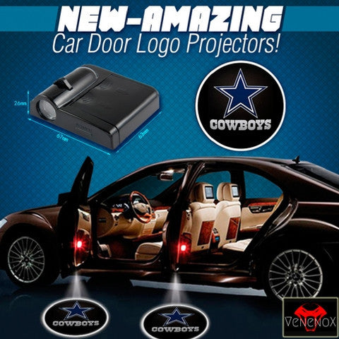 Cowboys - 2 x Wireless LED Car Logo Laser Projector - Fitness Equitments