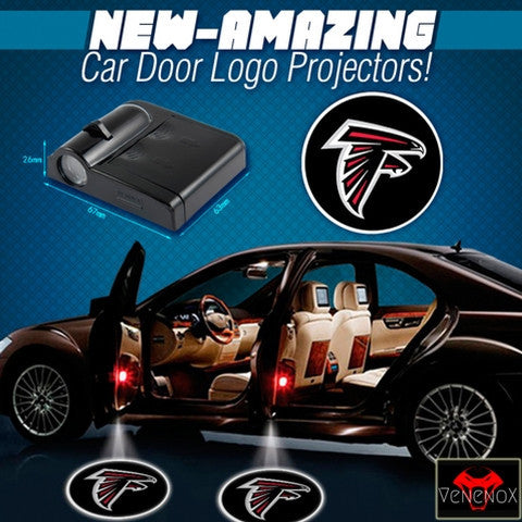 Falcons - 2 x Wireless LED Car Logo Laser Projector