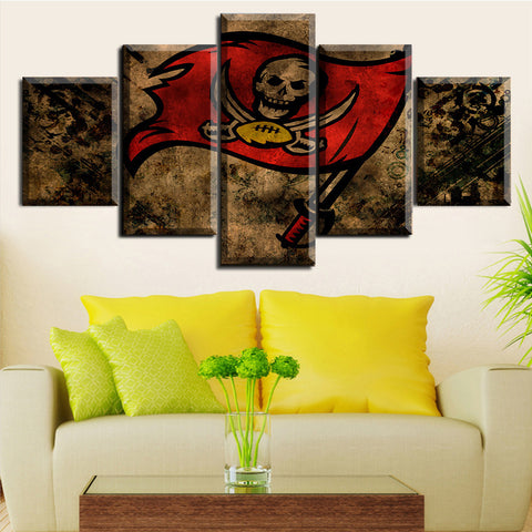 HD Limited Edition Buccaneers Canvas Flag