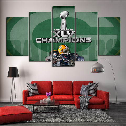 HD Limited Edition Packers Superbowl Canvas
