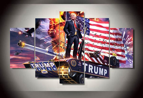 Modern HD Printed Donald Trump 5 Piece Painting wall art