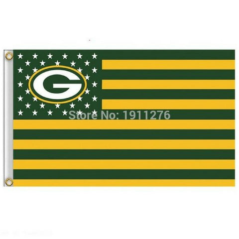 Fan Exclusive Packers USA Flag