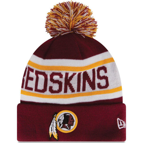 Exclusive Fan Redskins Cuff Knit Hat with Pom - Fitness Equitments