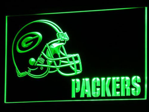 Exclusive Packers Helmet Bar LED Neon Light Sign - Fitness Equitments