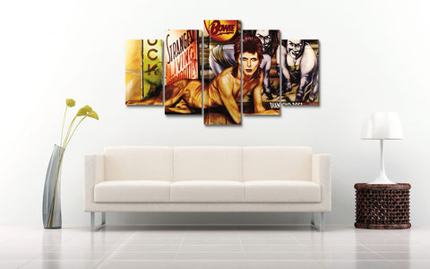 (50% OFF) David Bowie (B) - 5 Panel HD Wall Art Canvas Home Decor Display - ***FREE SHIPPING***