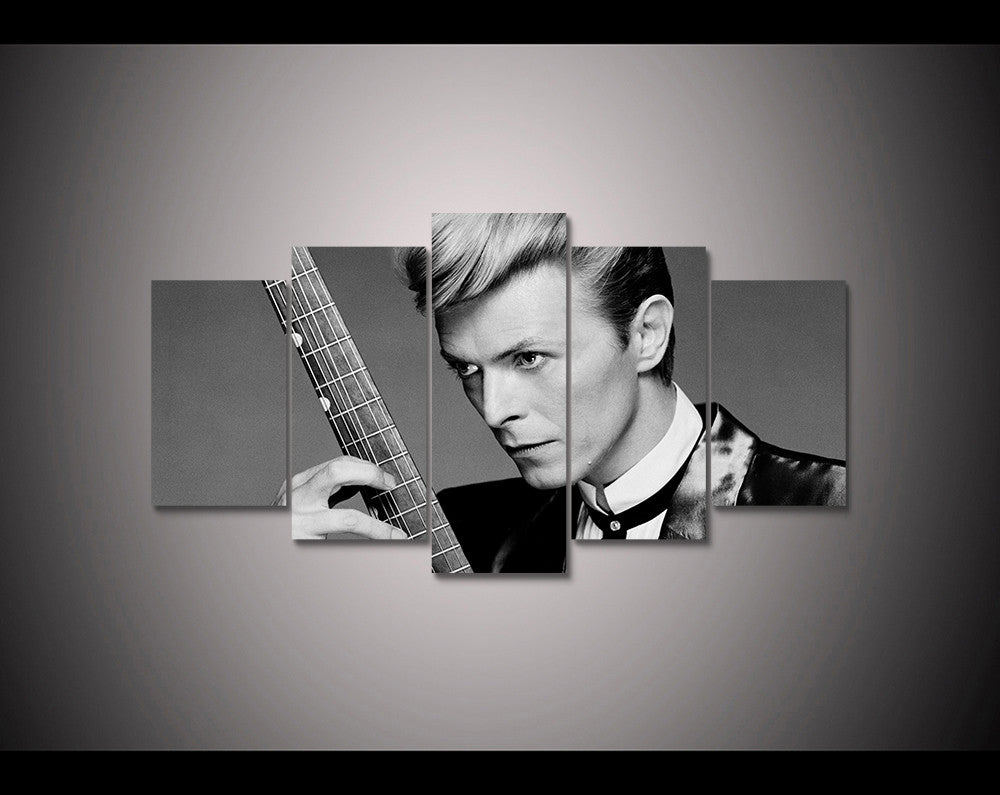 (50% OFF) David Bowie (C) - 5 Panel HD Wall Art Canvas Home Decor Display - ***FREE SHIPPING***
