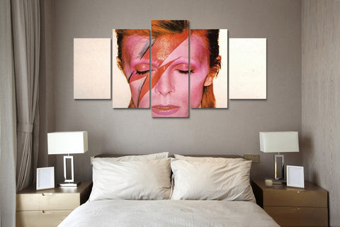 (50% OFF) David Bowie (E) - 5 Panel HD Wall Art Canvas Home Decor Display - ***FREE SHIPPING***
