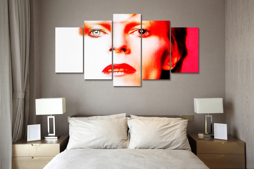 (50% OFF) David Bowie (F) - 5 Panel HD Wall Art Canvas Home Decor Display - ***FREE SHIPPING***
