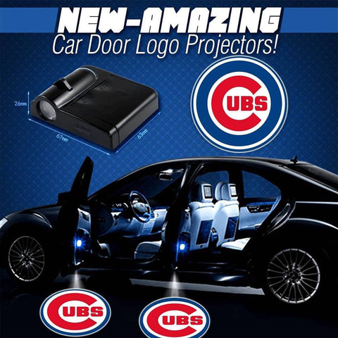 Cubs - 2 x Wireless LED Car Logo Laser Projector - Fitness Equitments