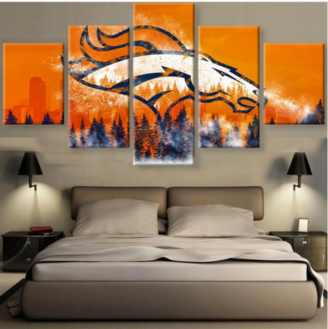 (50% OFF) DENVER BRONCOS (A) - 5 Panel HD Wall Art Canvas Home Decor Display - ***FREE SHIPPING***