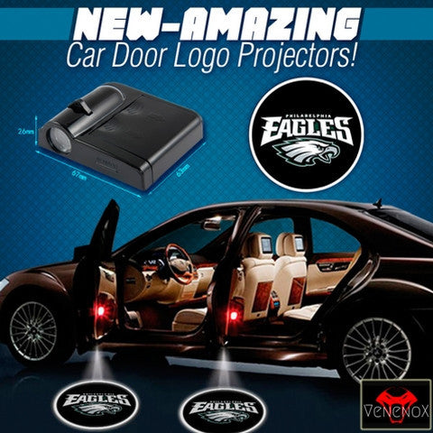 Eagles - 2 x Wireless LED Car Logo Laser Projector - Fitness Equitments