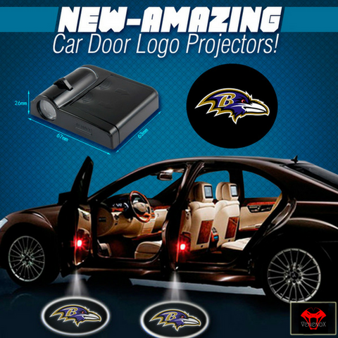 Ravens - 2 x Wireless LED Car Logo Laser Projector (44% Off Plus FREE Shipping) - Fitness Equitments