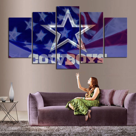 HD Limited Edition Cowboys Canvas Flag
