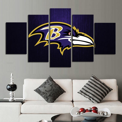 HD Limited Edition Ravens Canvas Logo