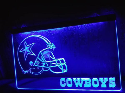 Exclusive Cowboys Helmet Bar LED Neon Light Sign - Fitness Equitments