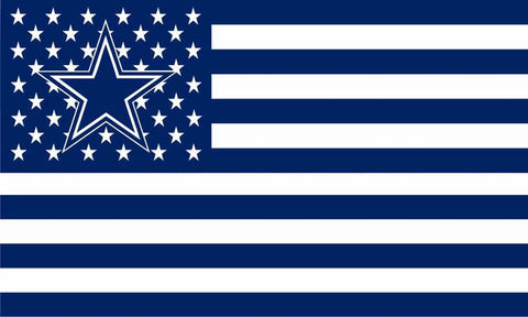Fan Exclusive Cowboys USA Flag - Fitness Equitments