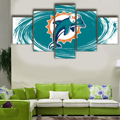 HD Limited Edition Dolphins Canvas Logo