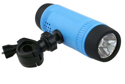Bike Mount Speaker-Battery Bank-Flashlight