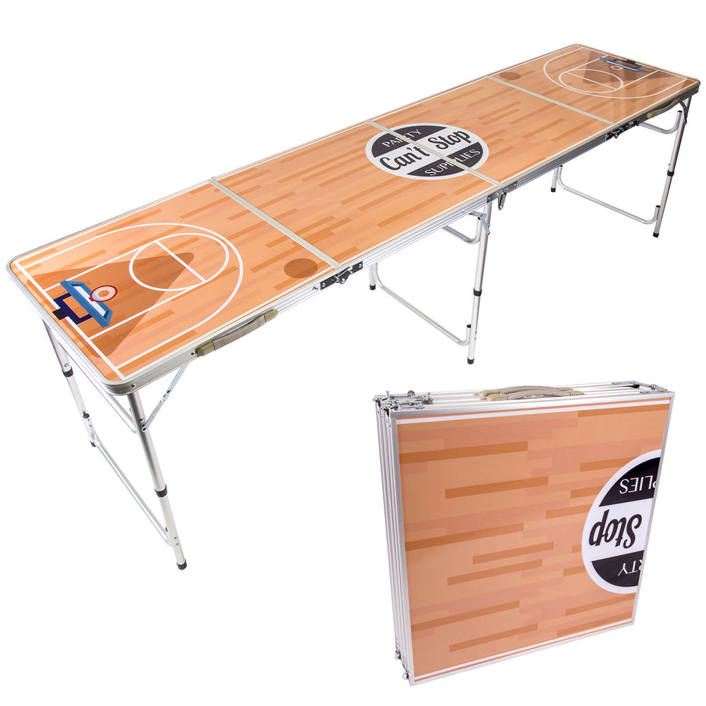 Cant Stop Party Supplies Portable Tailgating Beer Pong Table Easily Foldable W Adjustable Height Options Basketball