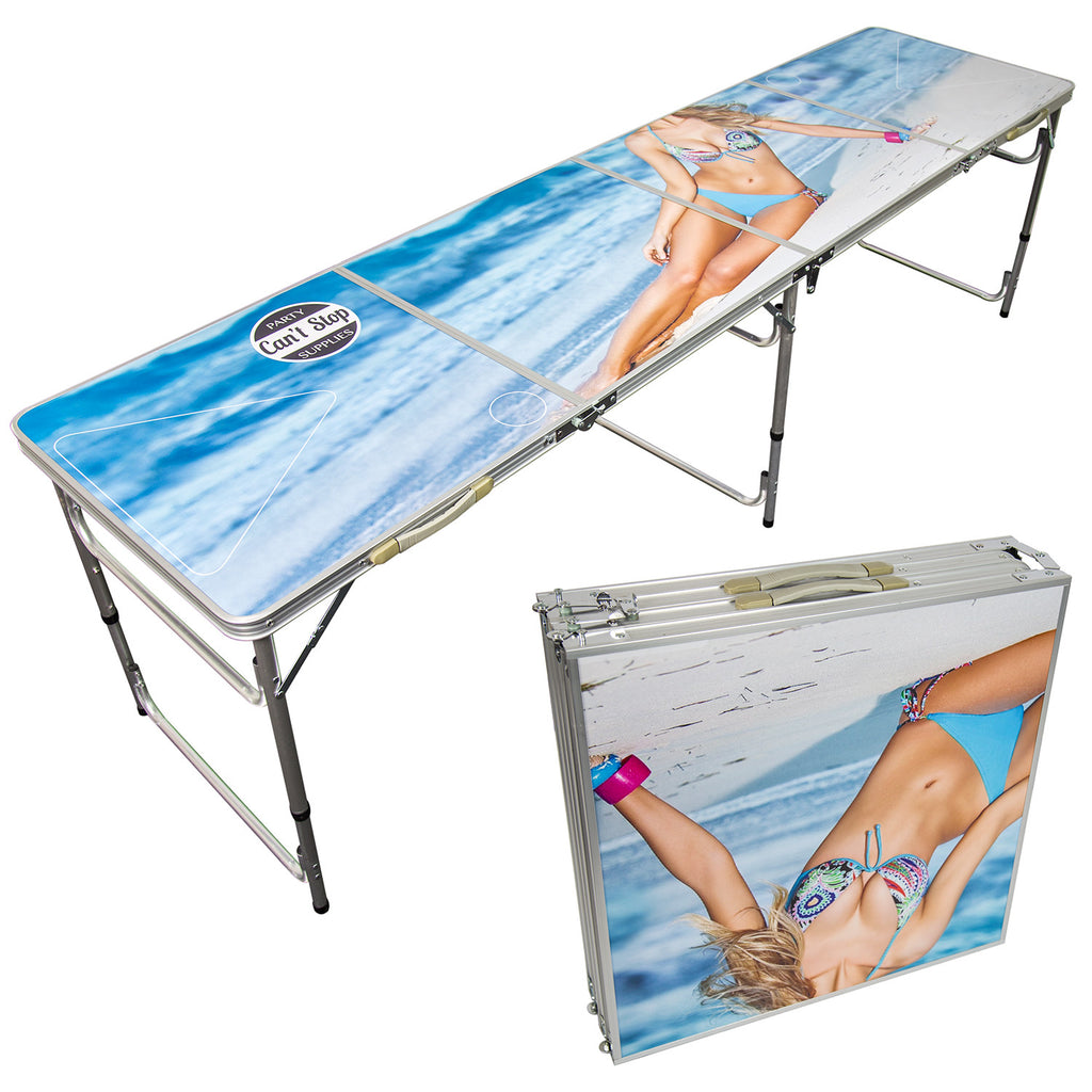 can t stop party supplies portable tailgating beer pong table easily