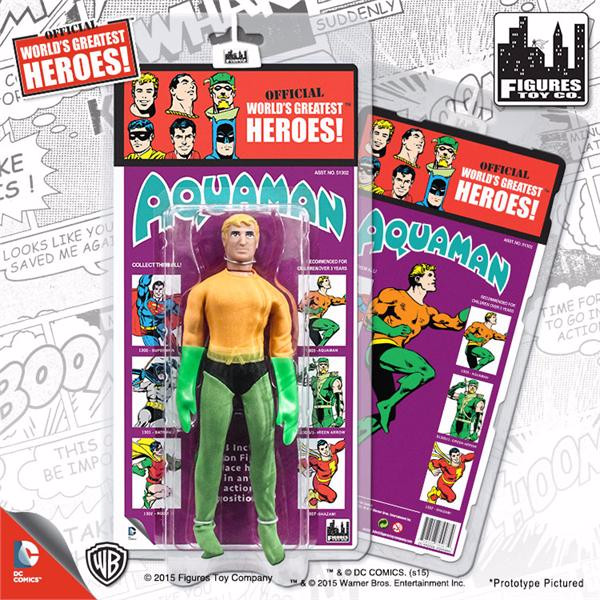 DC Comics Retro Kresge Style Action Figures Series 2: Aquaman