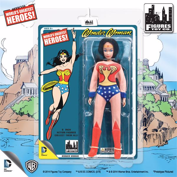 Wonder Woman 8 Inch Retro Figurine With Full Body Artwork