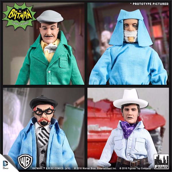 Batman Classic 1966 TV Series Retro 8 Inch Action Figures Villain Variant Series: Set of all 4