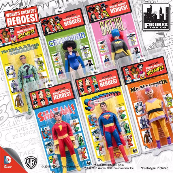 DC Comics Retro Kresge Style Action Figures Series 1: Complete Set of all 6