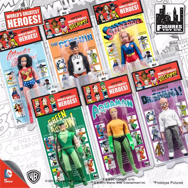 DC Comics Retro Kresge Style Action Figures Series 2: Complete Set of all 6