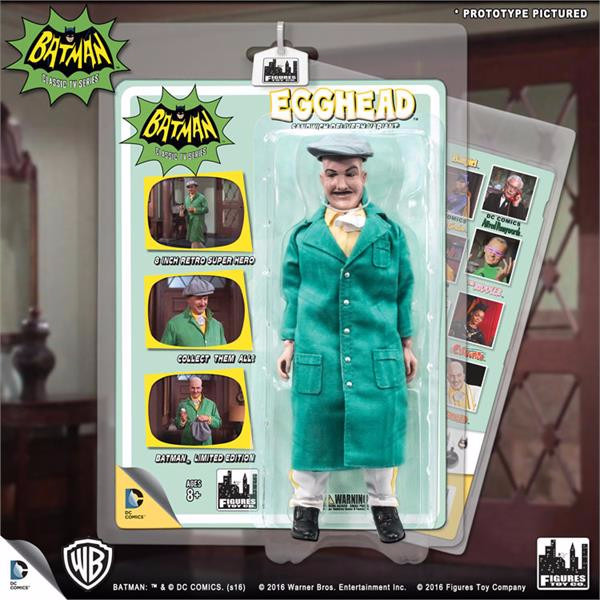 Batman Classic 1966 TV Series Retro 8 Inch Action Figures Villain Variant Series: Egghead