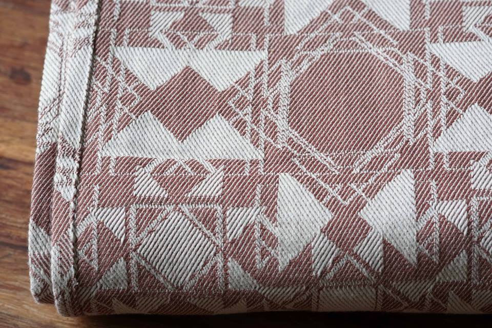 Virtue Quadrangle Terracotta Woven Wrap