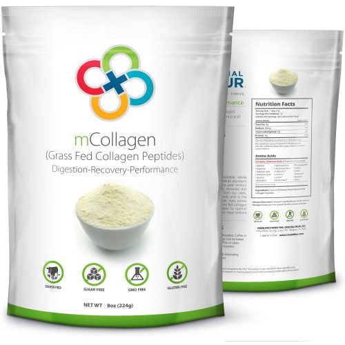 mCollagen | Grass Fed Collagen Peptides | 8 oz