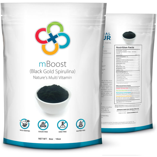 mBoost | Black Gold Spirulina™ Powder | 8 oz