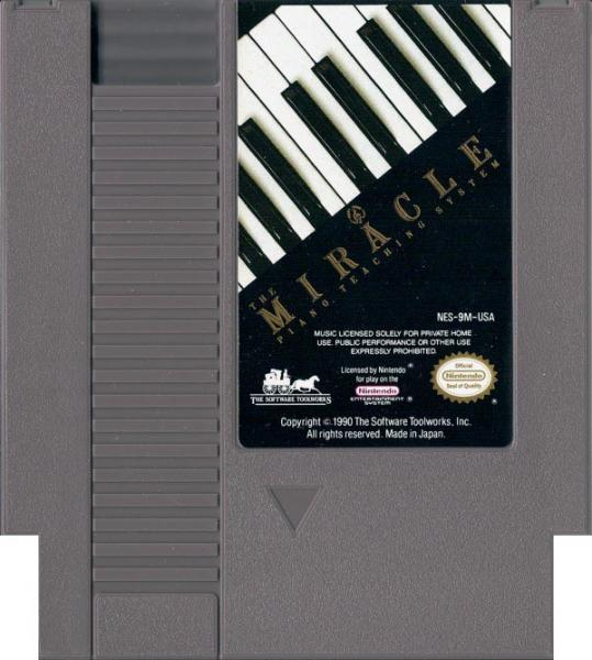 NES Miracle Piano Teaching System -  game only