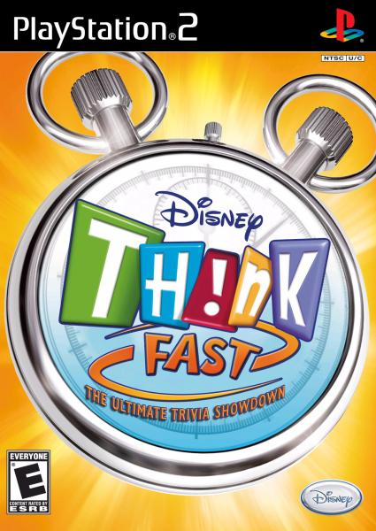 PS2 Disney Think Fast - game only