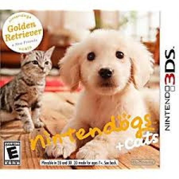 3DS Nintendogs and Cats - Golden Retriever and New Friends