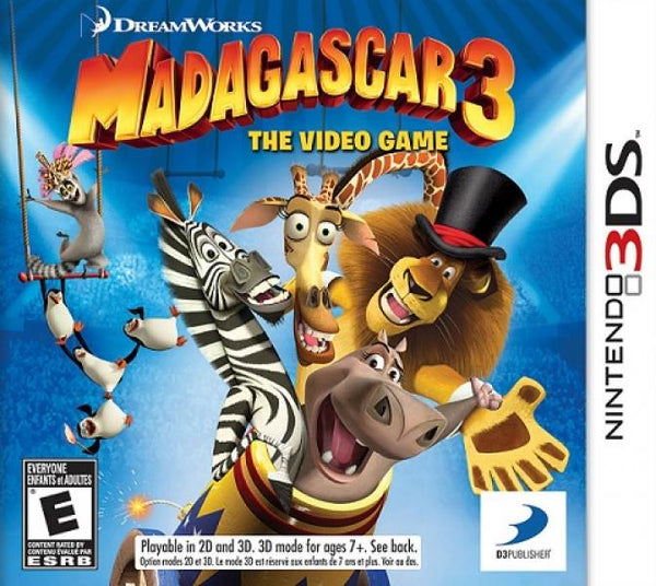 3DS Madagascar 3 - The Video Game